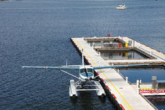 Single engine seaplane. Royalty Free Stock Images