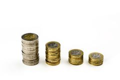 Single European currency decreasing Royalty Free Stock Photo
