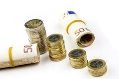 Single European currency decreasing Royalty Free Stock Images