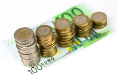 Single European currency decreasing Stock Image
