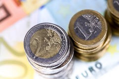 Single European currency decreasing Royalty Free Stock Photography