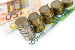 Single European currency decreasing Royalty Free Stock Images