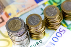 Single European currency decreasing Stock Photography