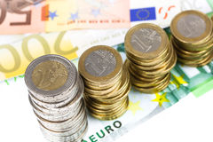 Single European currency decreasing Stock Photos