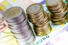 Single European currency decreasing Stock Images