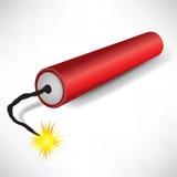 Single exploding dynamite. Single about to explode dynamite illustration Royalty Free Stock Photos