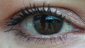 Single eye close up stock video