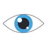 Single eye icon. Simple flat design single eye icon  illustration Royalty Free Stock Photography