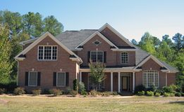 Single family brick home Royalty Free Stock Images