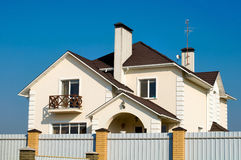 Single family house. With fence Stock Image