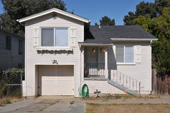 Single family house one story with driveway Stock Image
