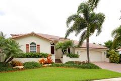 Single-family house. Stock image of a single family house in South Florida Stock Image
