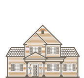 Single family house vector Stock Photography