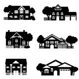 Single family houses Royalty Free Stock Images