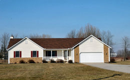 Single Family Ranch. Image of a single family ranch style home royalty free stock images