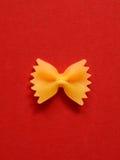 Single farfalle pasta Stock Photo