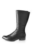 Single female boot. Isolated over white background Stock Photos