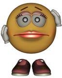 Single Female Emoticon Stock Photo