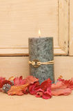 Single Feng Shui candle Stock Photography