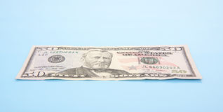 Single fifty dollar note Stock Photography
