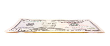 Single fifty dollar note Stock Photo