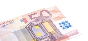 Single fifty euro note Royalty Free Stock Photo