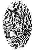 Single fingerprint Royalty Free Stock Photos