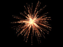Single firework Stock Images