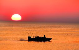 Single Fishing Boat Royalty Free Stock Images