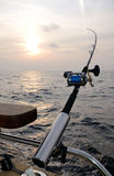 Single Fishing-rod On A Boat Royalty Free Stock Image