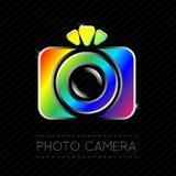 Single Flat Photo Camera Icon. Vector Illustration of a Single Flat Photo Camera Icon Royalty Free Stock Photo
