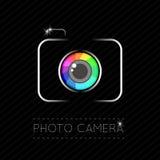 Single Flat Photo Camera Icon Royalty Free Stock Image