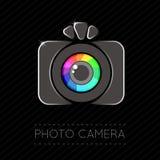 Single Flat Photo Camera Icon Stock Image