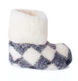 Single Fleece Boot Stock Photography