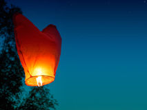 Single Floating Lantern Stock Photos