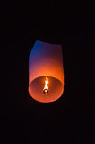 Single Floating Lantern Royalty Free Stock Photo