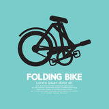 Single Folding Bike Graphic Stock Photo