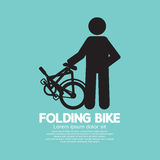 Single Folding Bike Graphic Stock Images