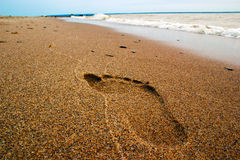 Single footprint Stock Photo