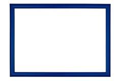Single frame on white background. Blue wooden frame, isolated on white background Royalty Free Stock Photos
