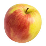Single fresh apple on white Stock Images