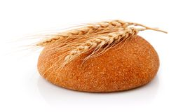 Single fresh bread with corn Royalty Free Stock Image