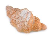 Single fresh croissant isolated on white Stock Photography
