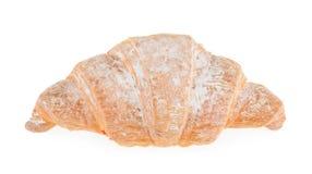 Single fresh croissant isolated on white Royalty Free Stock Photo