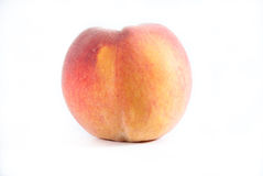 Single fresh peach on a white isolated background Stock Images