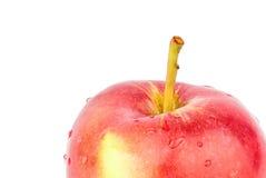 Single fresh red apple. Isolated on white background. Close-up Royalty Free Stock Photo
