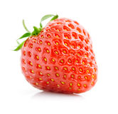 Single fresh red strawberry isolated on white Royalty Free Stock Image