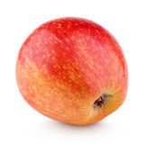 Single fresh red yellow apple isolated on white stock photo