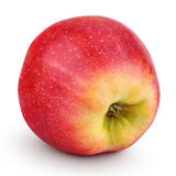 Single fresh red yellow apple isolated on white stock photos