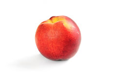 Single fresh ripe peach Royalty Free Stock Photo